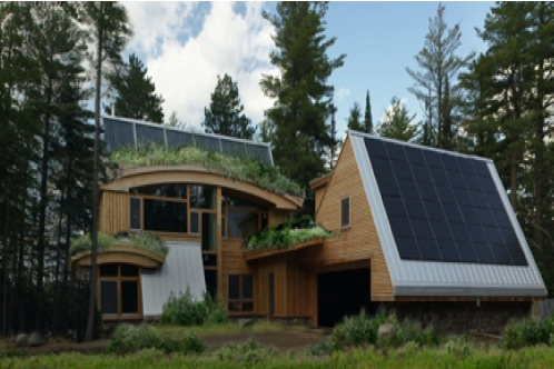 The isabella mn ecologically balanced building goes to the for Leed cabins