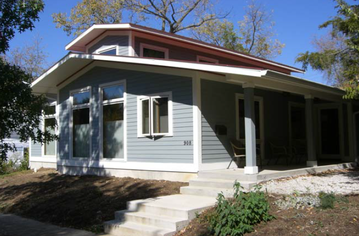 Gulyas residence leed platinum bloomington indiana for Leed certification for homes