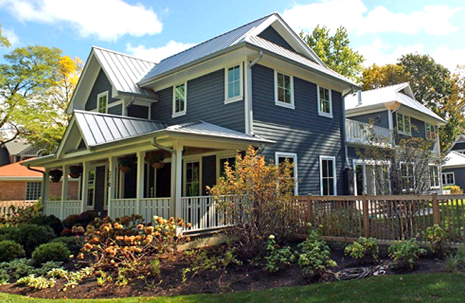 Chicago north shore home earns leed platinum greenhome for Leed platinum home