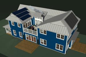 Glencoe, IL LEED Platinum roofline