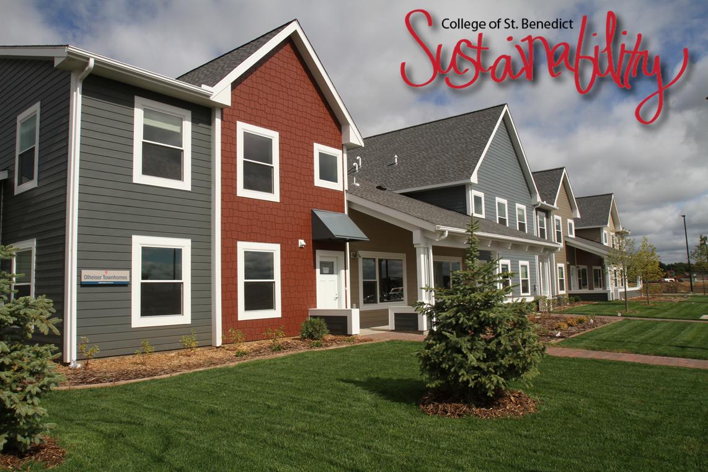 College of saint benedict senior housing leed platinum for Seniors house