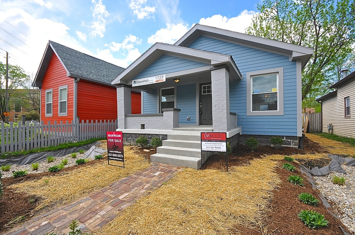 Indianapolis restored home gets leed platinum sells fast for Leed certified house