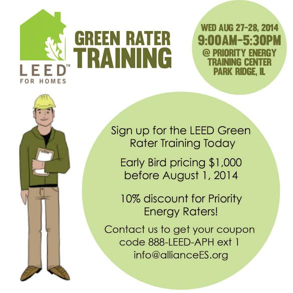 Usgbc Leed For Homes Green Rater Training Greenhome