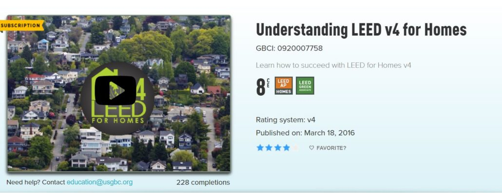 Leed for homes greenhome institute for Leed for homes rating system