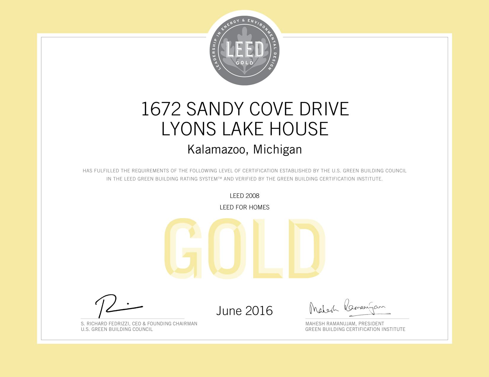 Lyons Lake House Leed Gold Single Family Project Profile