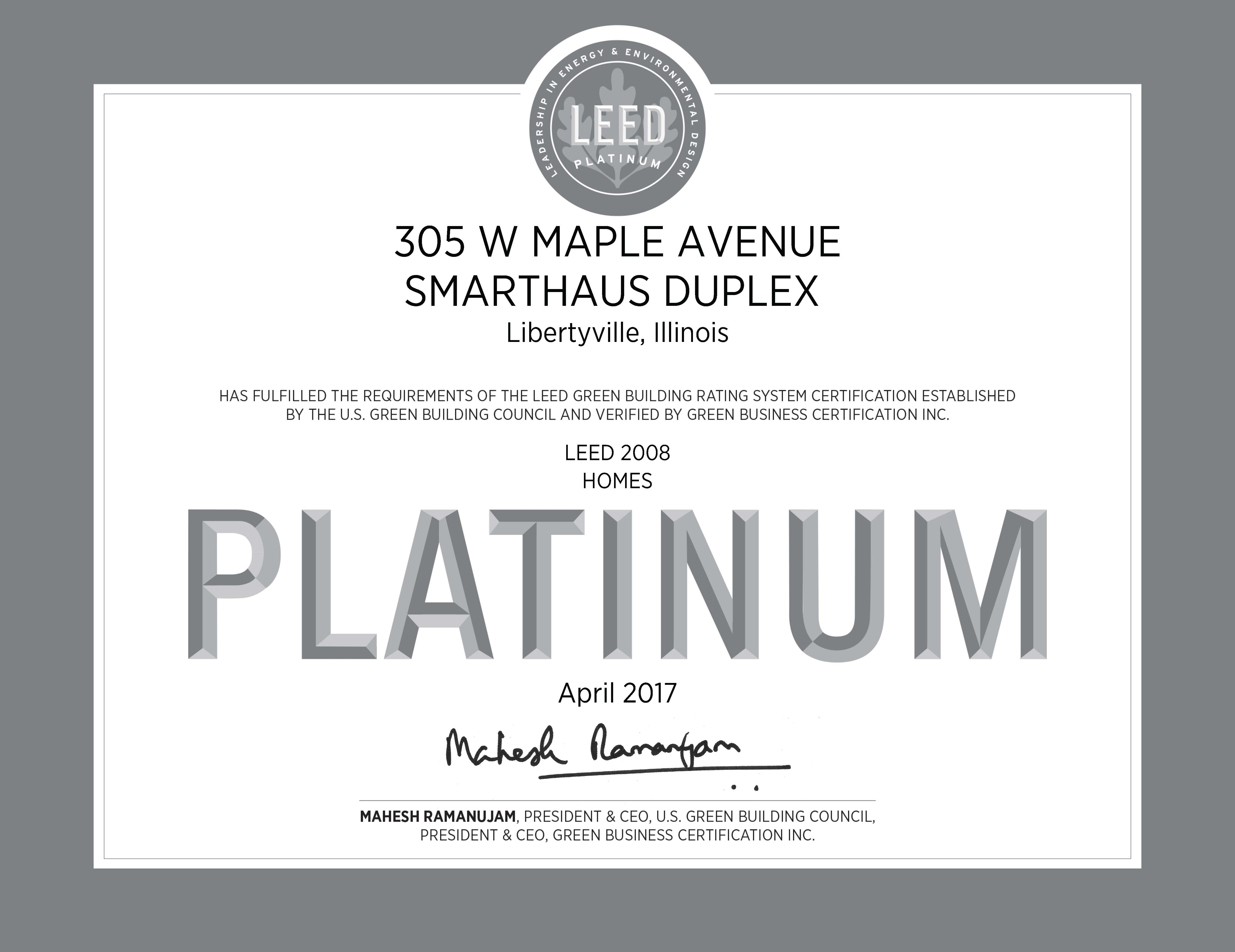 Leed Platinum Gold Smarthaus Duplex Greenhome Institute
