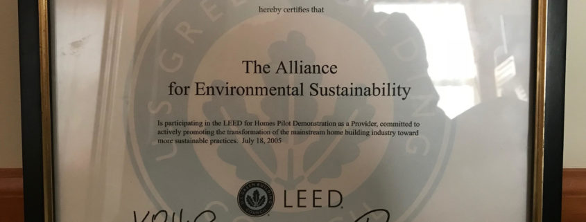 Certified homes archives greenhome institute for Leed for homes provider